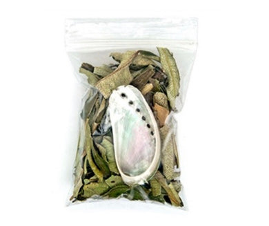 Yerba Santa Leaves & Mini Abalone Shell Set
