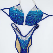 Load image into Gallery viewer, Bianca Multicoloured Crystal Fade Bikini - Accentuate Competition Bikinis