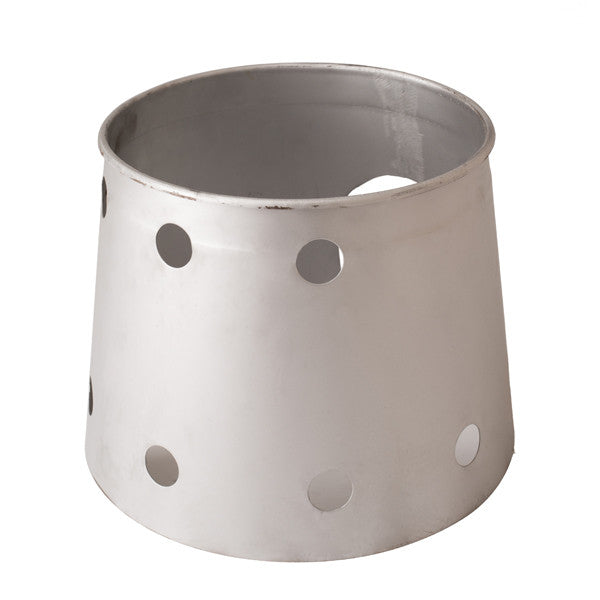 Silver Painted Wind-break Cauldron Holder for Gas Heating 30-41cm