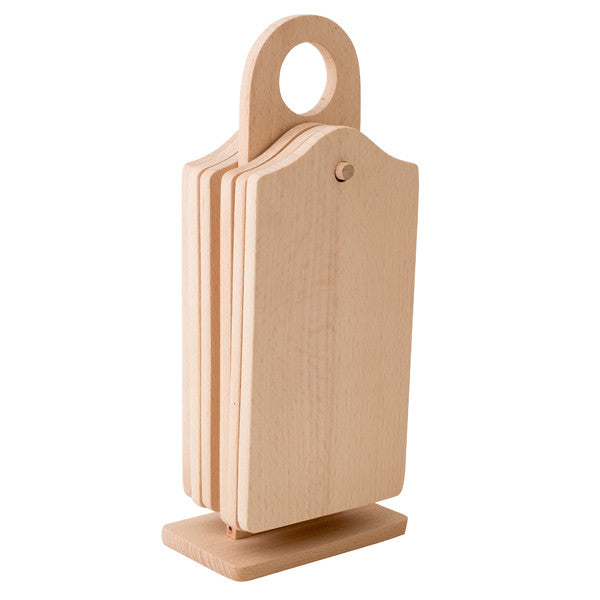 Wooden Serving Cutting Boards 6 pcs Sets 20x12cm