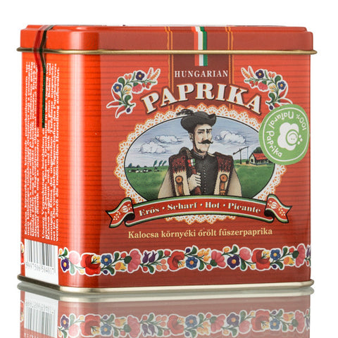Hot Ground Paprika in Metal Ornamental Box 100gr
