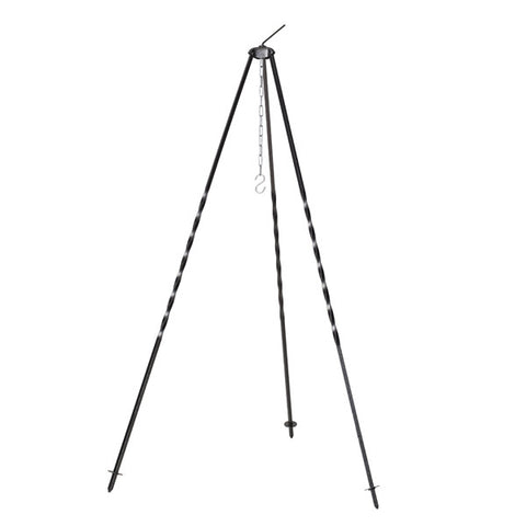 Outdoor Cooking Tripod in Galvanized Metal 1,2meter