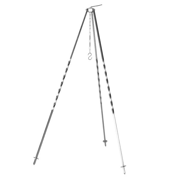 Outdoor Cooking Tripod in Sintered Silver Metal 1,2 meter