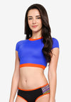 RETRO ACTIVE - Daisy Sleeved Crop Top