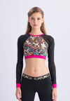 ACTIVE-POP Long Sleeve Crop Top