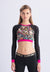 ACTIVE-POP Long Sleeve Crop Top C1
