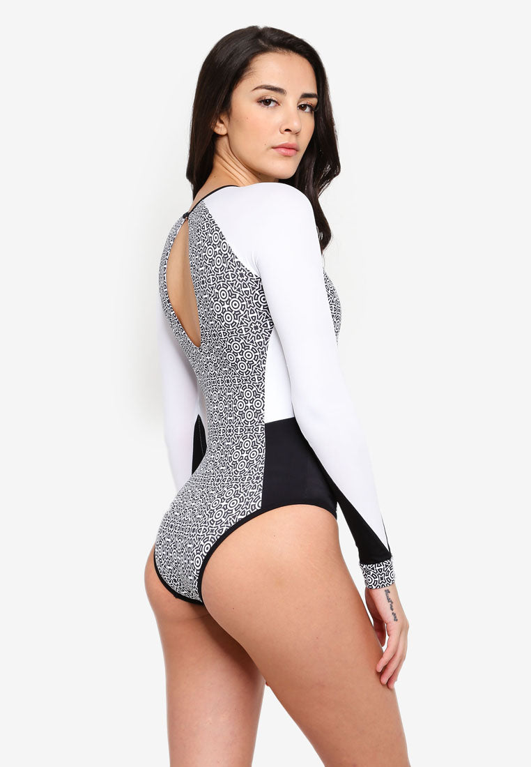 Island Boho - Telilah Long Sleeve Swimsuit