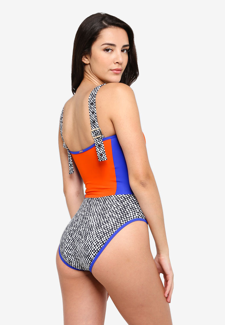 RETRO ACTIVE - Rachel Strappy Swimsuit