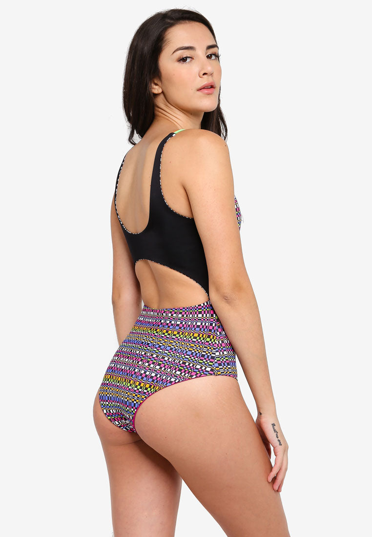 RETRO ACTIVE - Ivy Open Back Swimsuit