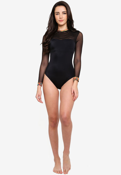 RETRO ACTIVE - Kate Long Sleeve Swimsuit