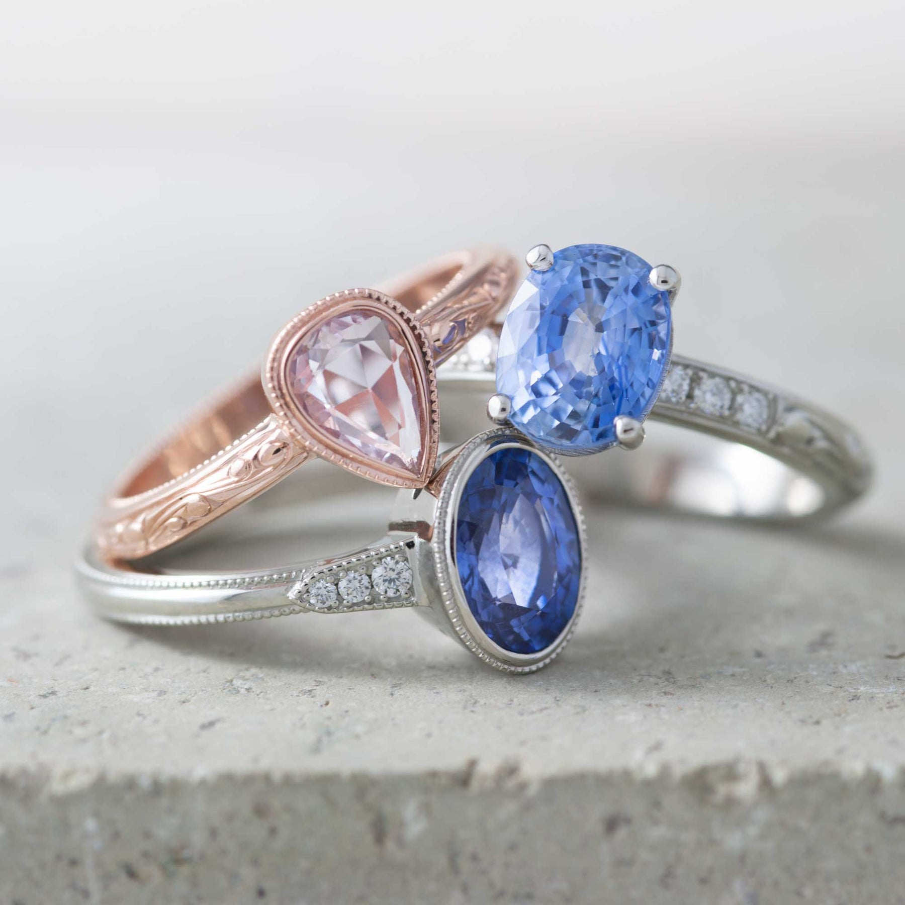 Sapphires! Fresh from the Workshop