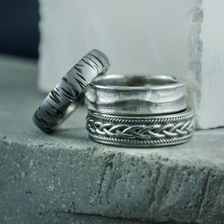 Chunky, Textured Wedding Bands