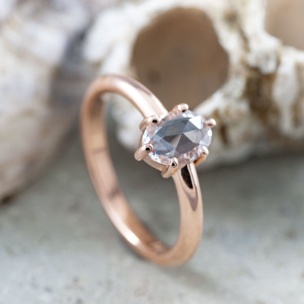 Rose Cut ethical diamond engagement ring