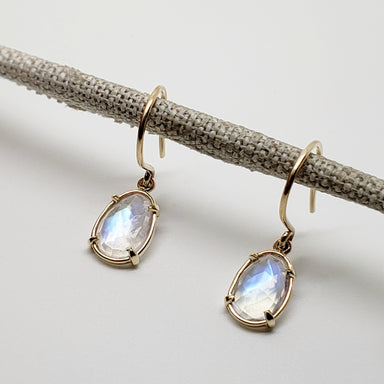 Moonstone Drop Earrings Earrings - Era Design Vancouver