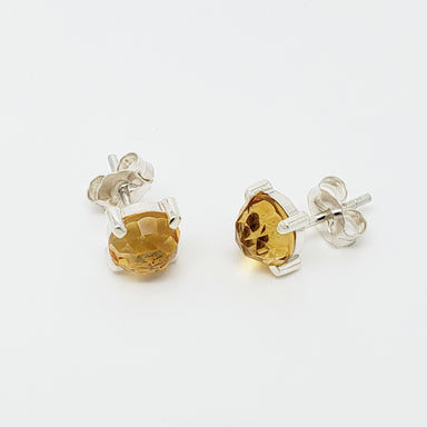 Rose Cut Citrine Studs Earrings - Era Design Vancouver