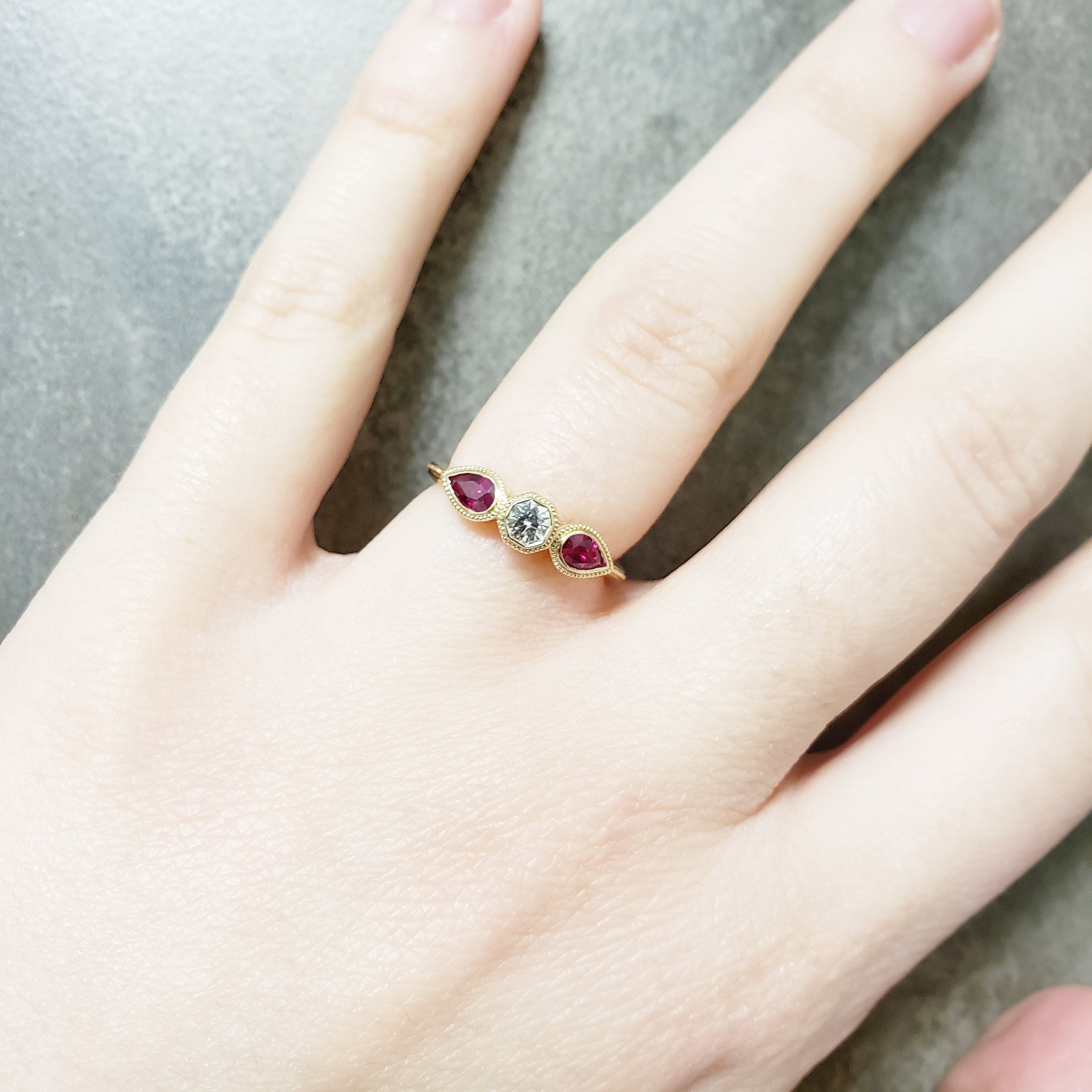 Anjou Gemstone Engagement Ring - Era Design Vancouver