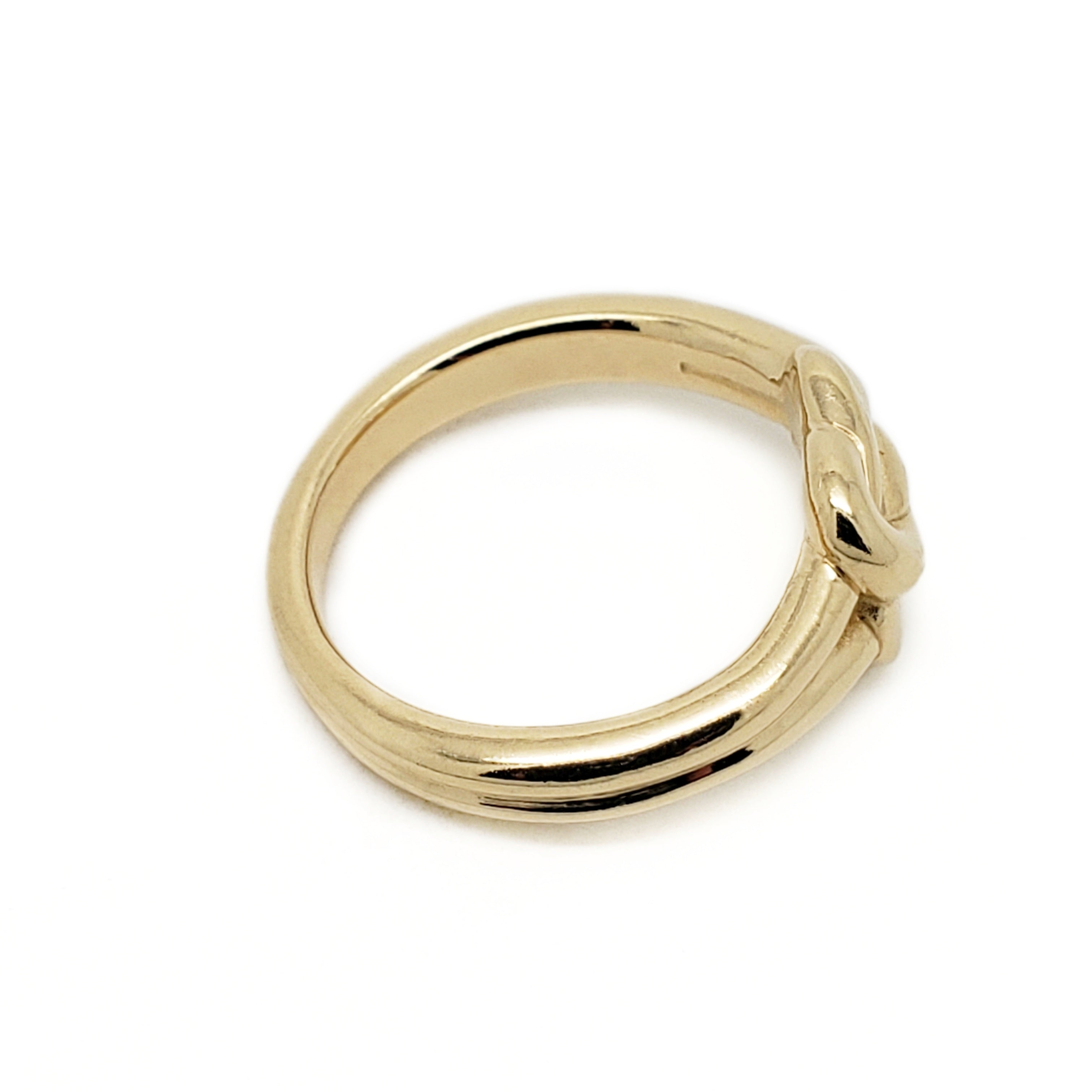 14kt yellow gold double knot wedding band era design