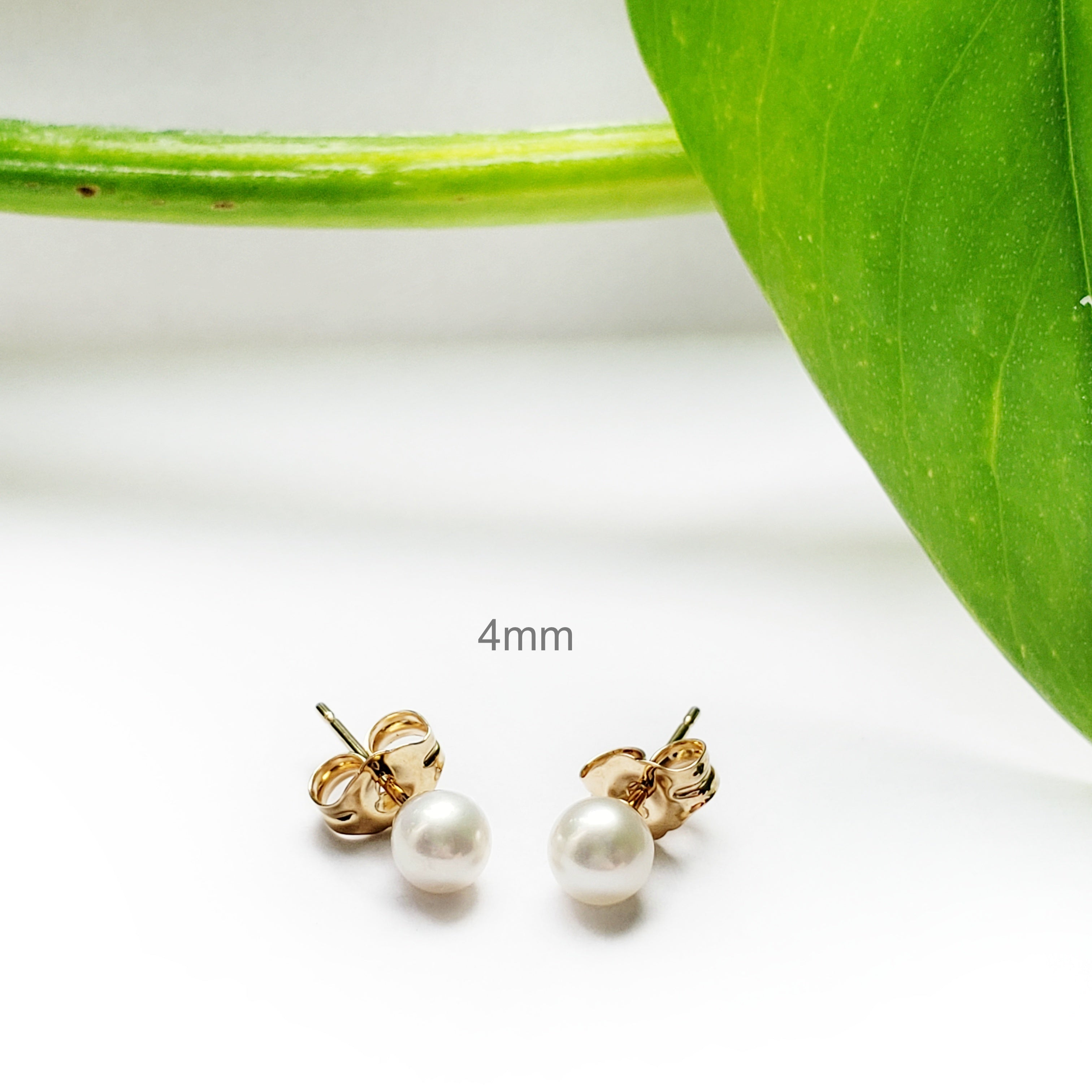 Yellow Gold Freshwater Pearl Earrings | Era Design Vancouver Canada
