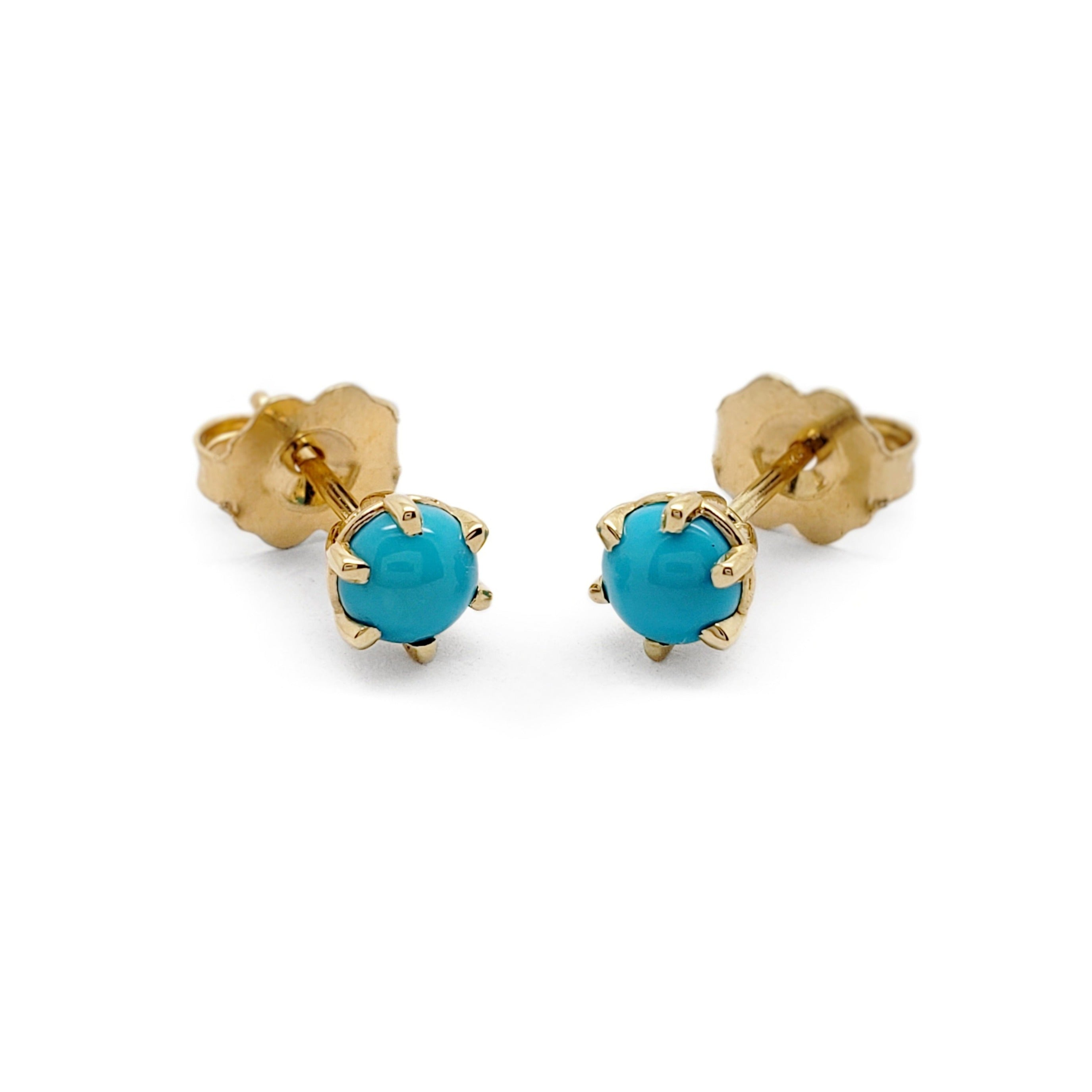 Turquoise Earrings Yellow