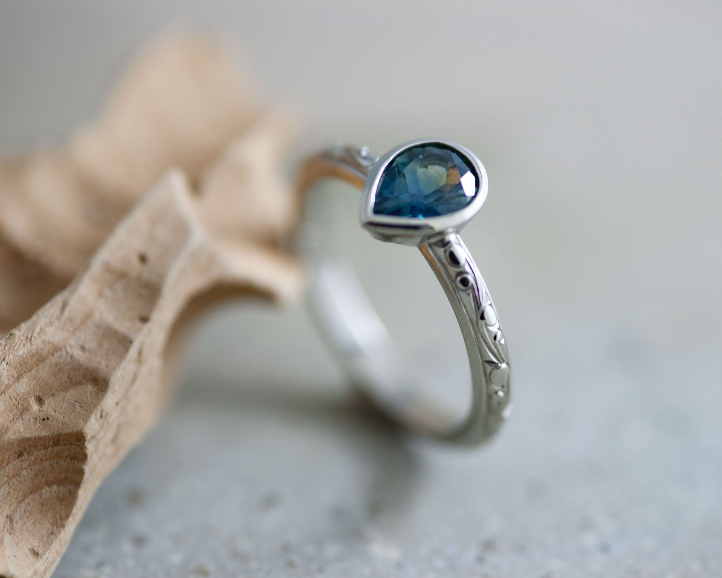 Blue Sapphire Engagement Ring | Era Design Vancouver Canada