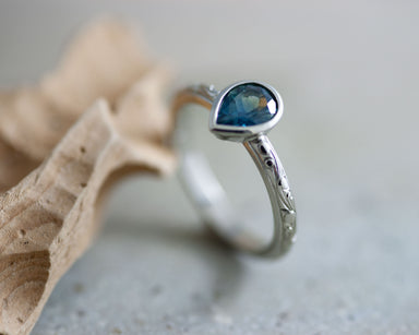 Via Sapphire Engagement Ring - Era Design Vancouver