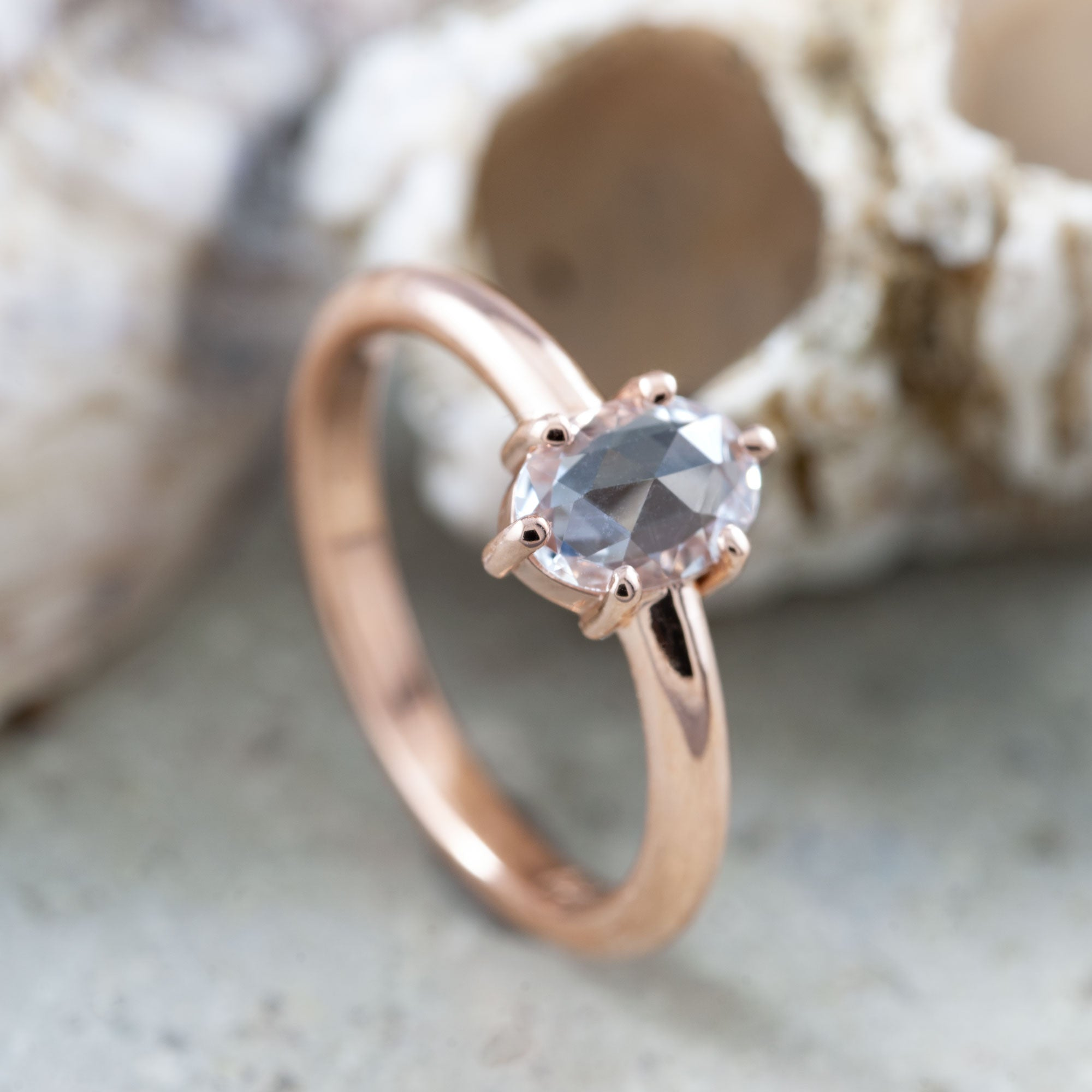 Rose Cut Sapphire Engagement Ring | Era Design Vancouver Canada