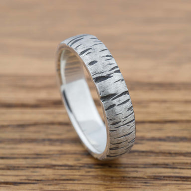 White Birch Wedding Band - Era Design Vancouver