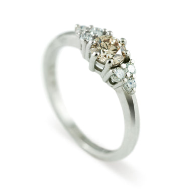 Champagne Zira Diamond Engagement Ring - Era Design Vancouver
