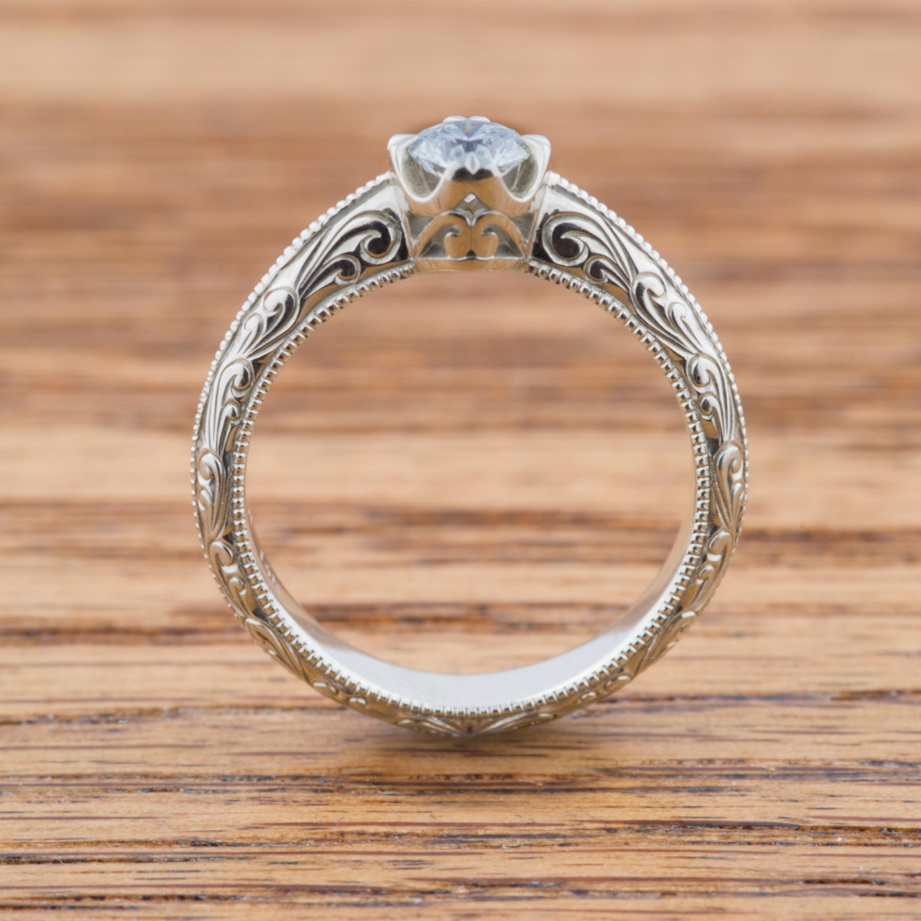 Compass Canadian Diamond Engagement Ring | Era Design Vancouver Canada