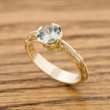 Yellow Compass Diamond Engagement Ring - Era Design Vancouver