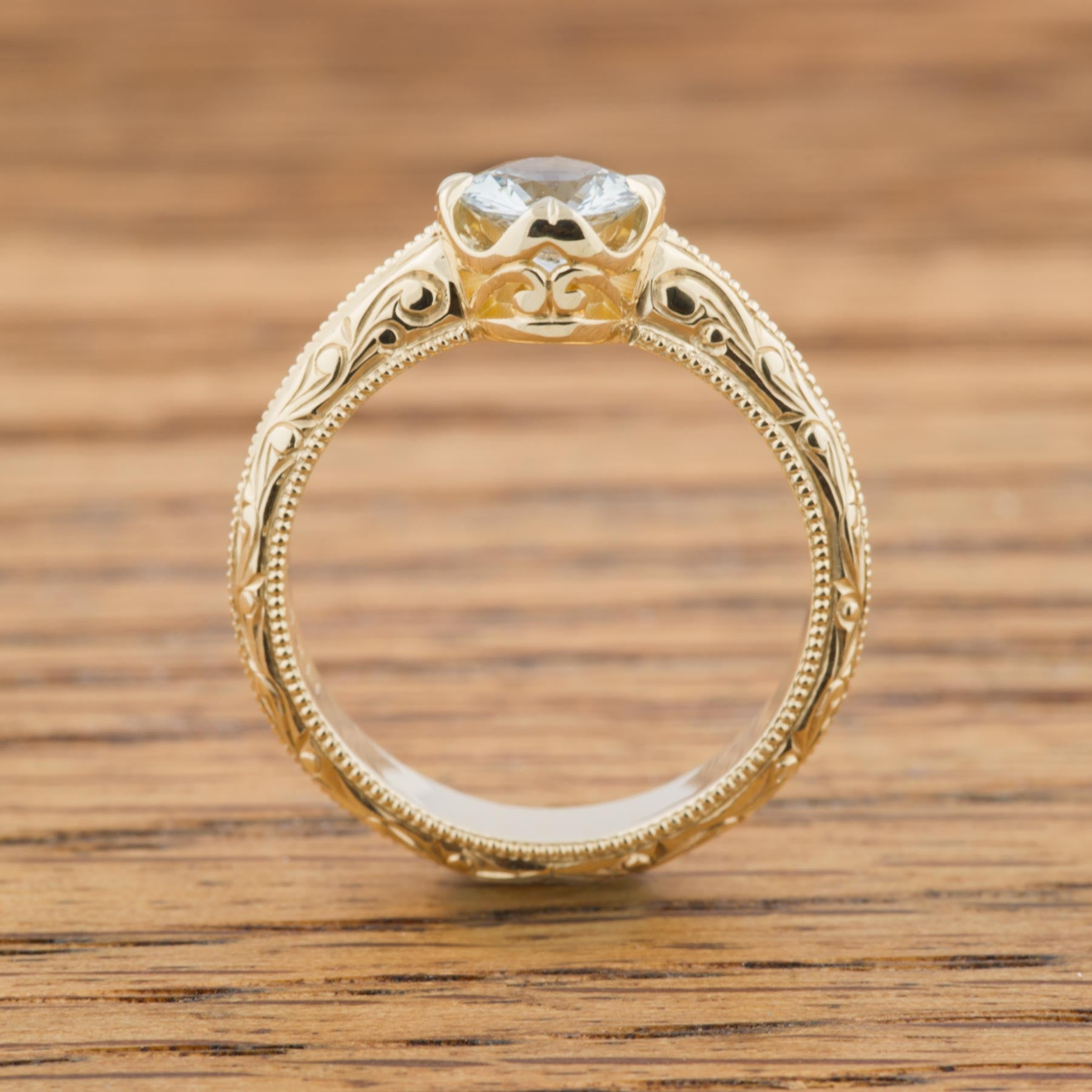 Yellow Compass Gemstone Engagement Ring - Era Design Vancouver