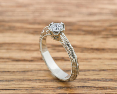 Compass Diamond Engagement Ring - Era Design Vancouver