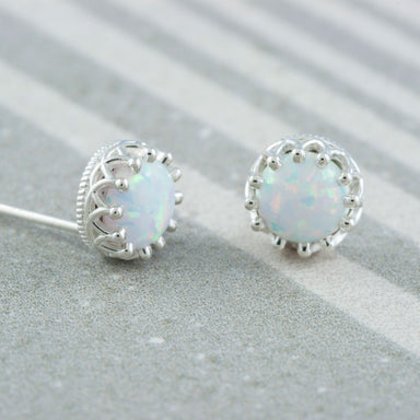 Veela Opal Sterling Silver Studs Earrings - Era Design Vancouver