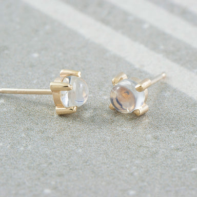 Moonstone Stud Earrings Gemstone Earrings - Era Design Vancouver