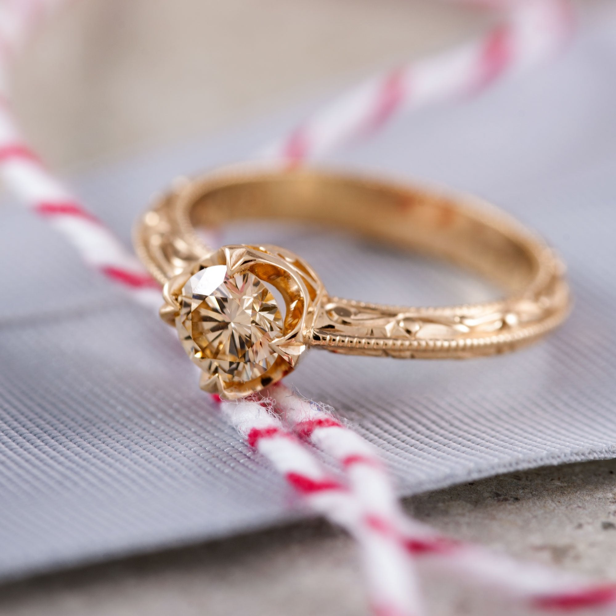 Yellow Compass Diamond Diamond Engagement Ring - Era Design Vancouver