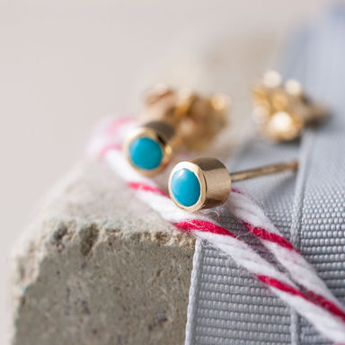 Turquoise Studs Earrings - Era Design Vancouver
