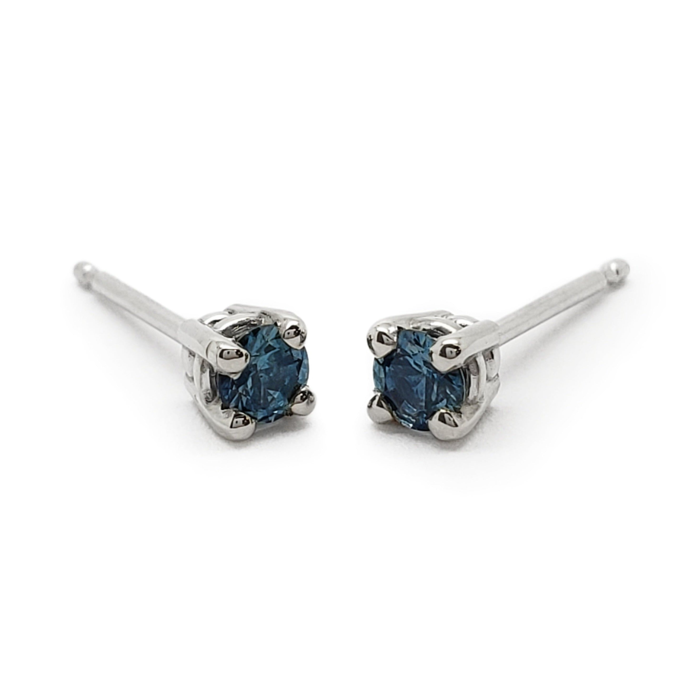 Blue Sapphire Earrings | Era Design Vancouver Canada
