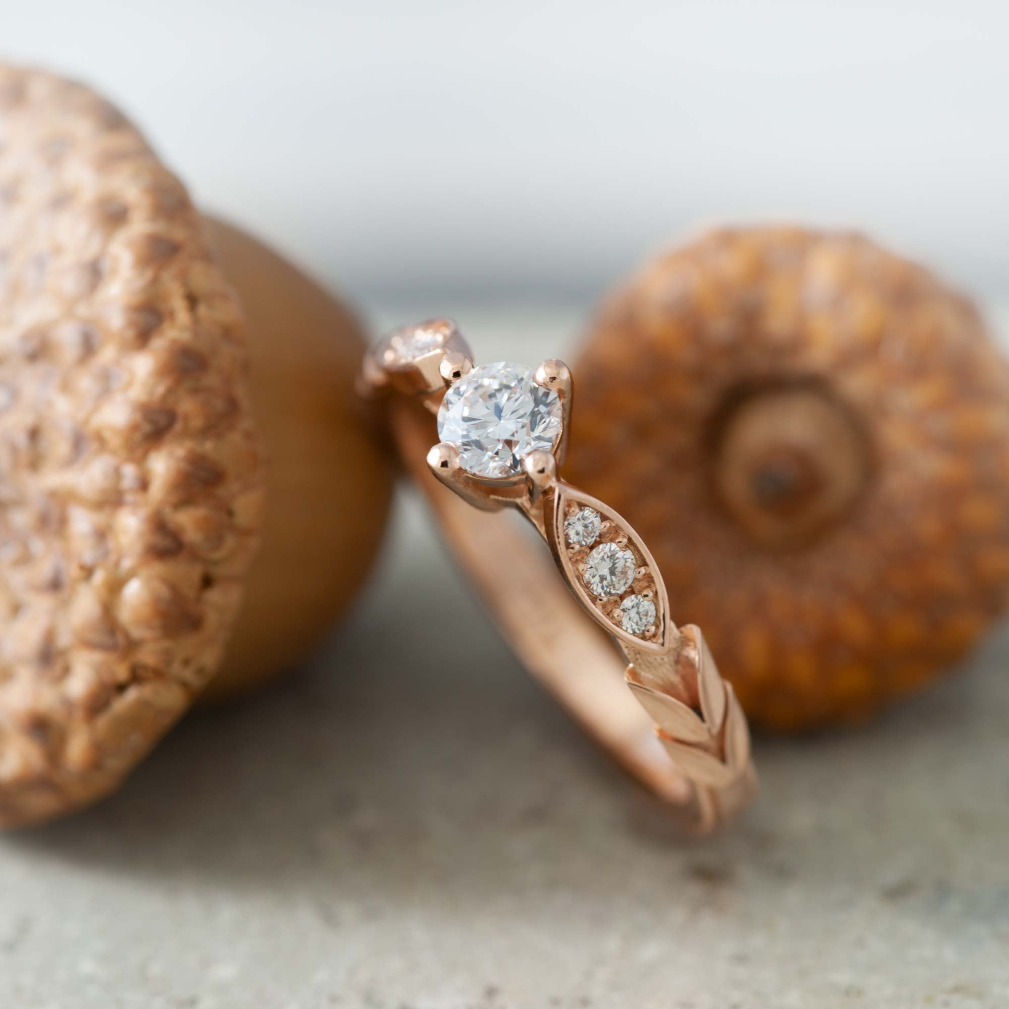 Rose Gold Diamond Engagement Ring | Era Design Vancouver Canada