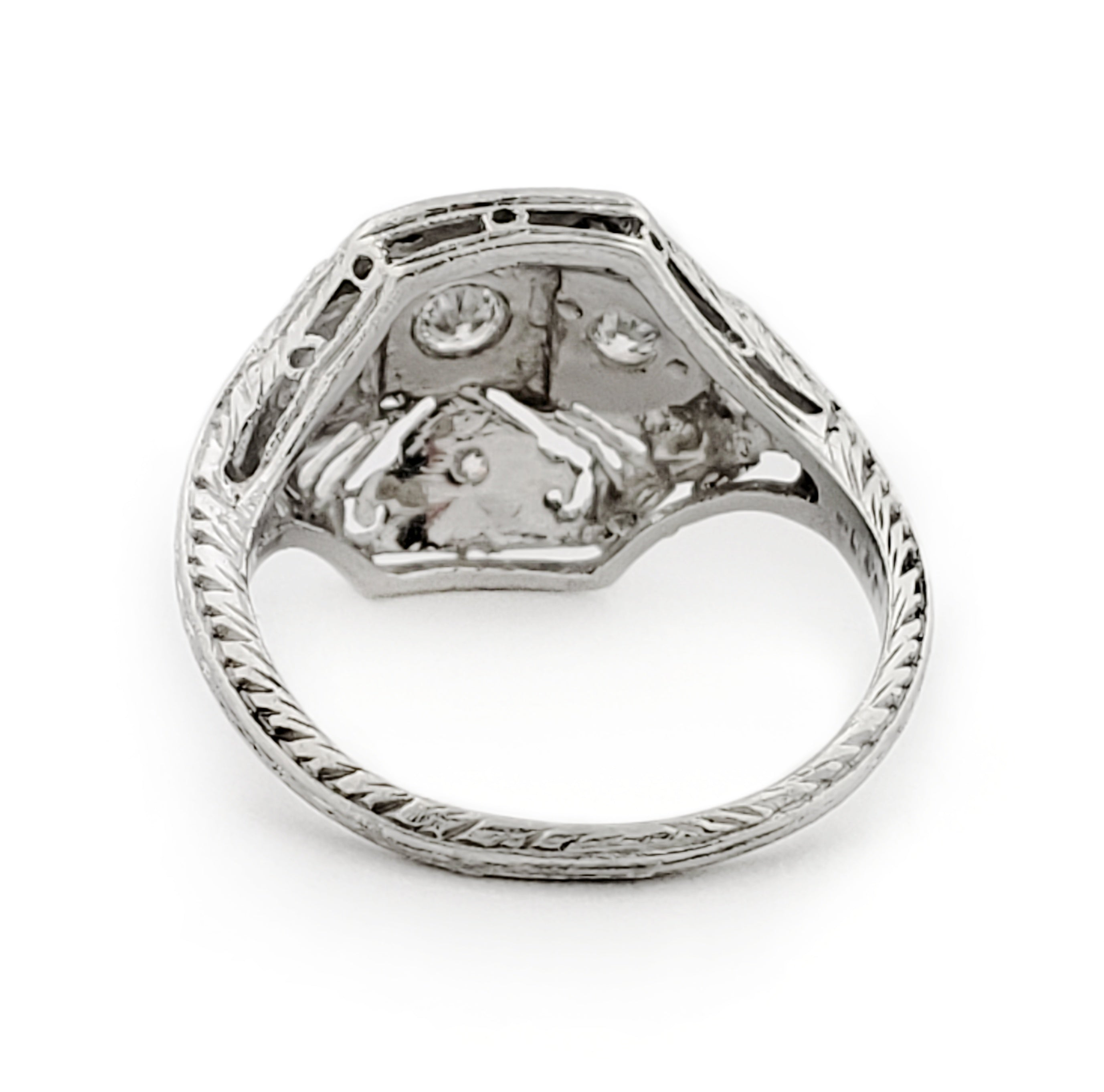 Vintage Edwardian Platinum Diamond Ring | Era Design Vancouver Canada