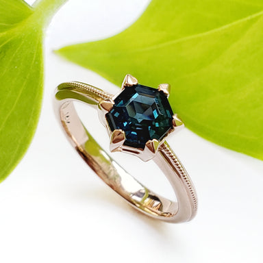 Hexagon Sapphire Engagement Ring | Era Design Vancouver Canada