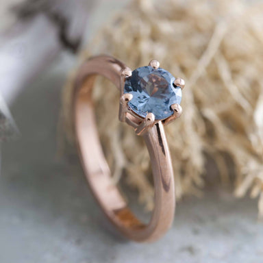 Rose Gold Spinel Engagement Ring | Era Design Vancouver Canada