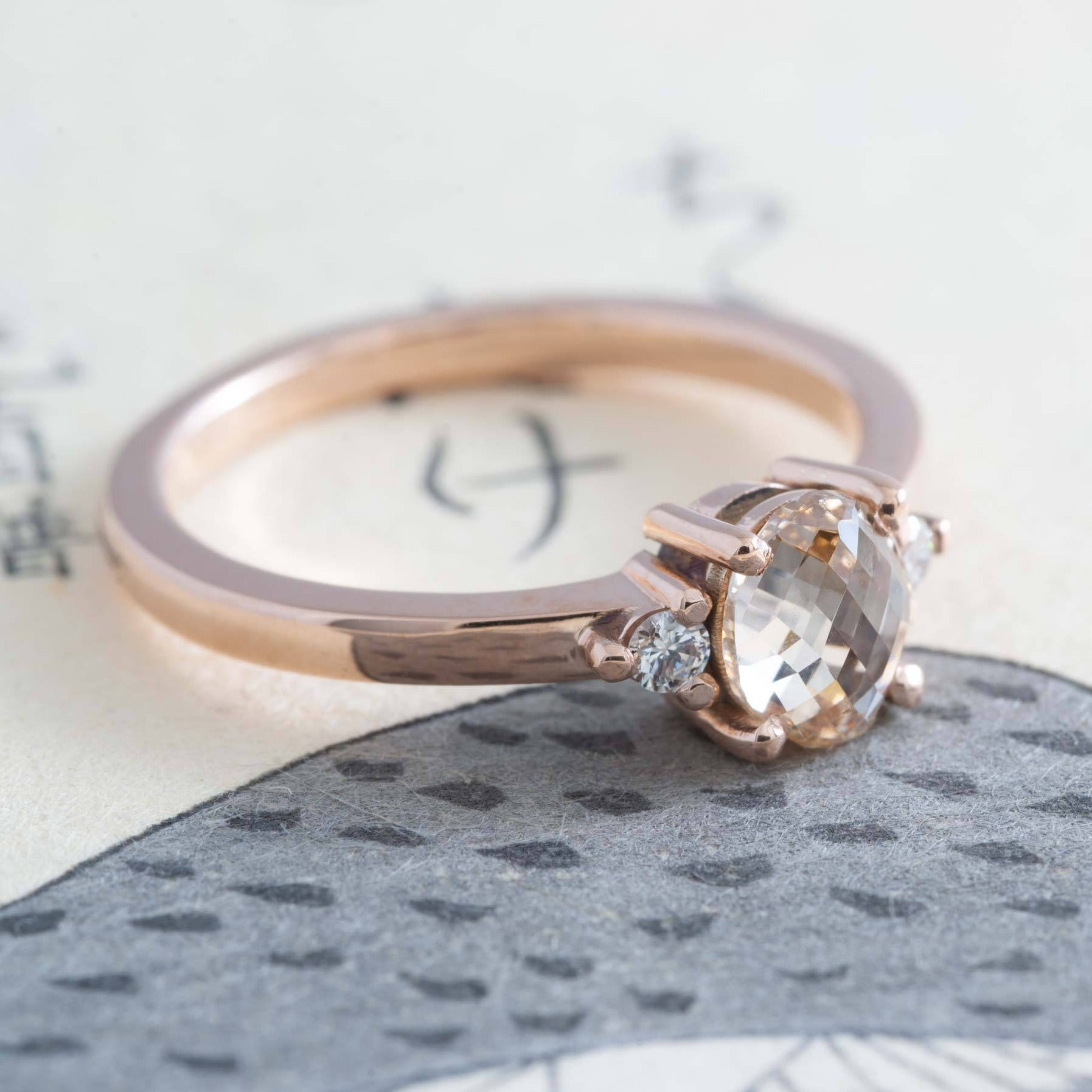 Champagne Diamond Engagement Ring | Era Design Vancouver Canada