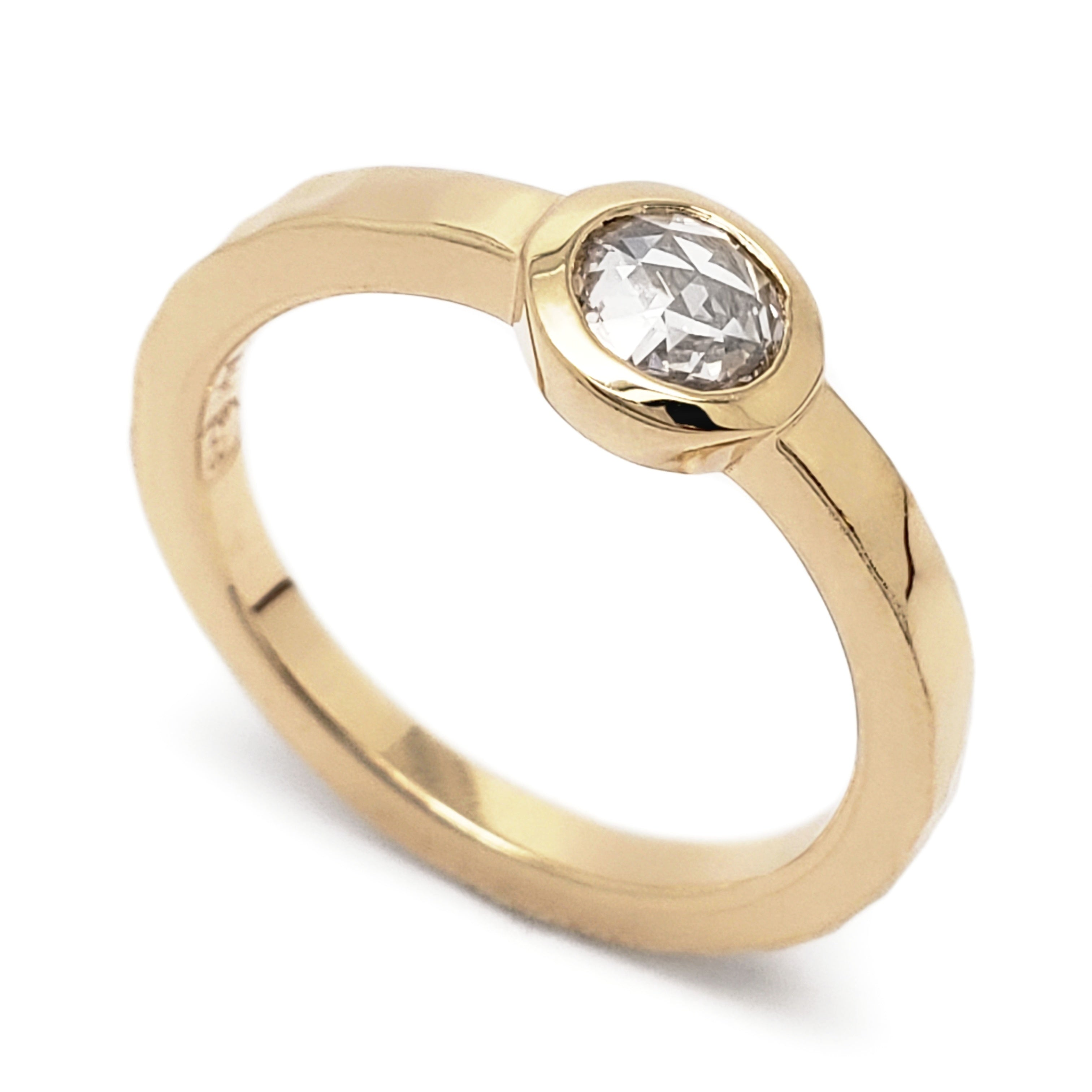 Yellow Gold Engagement Ring | Era Design Vancouver Canada