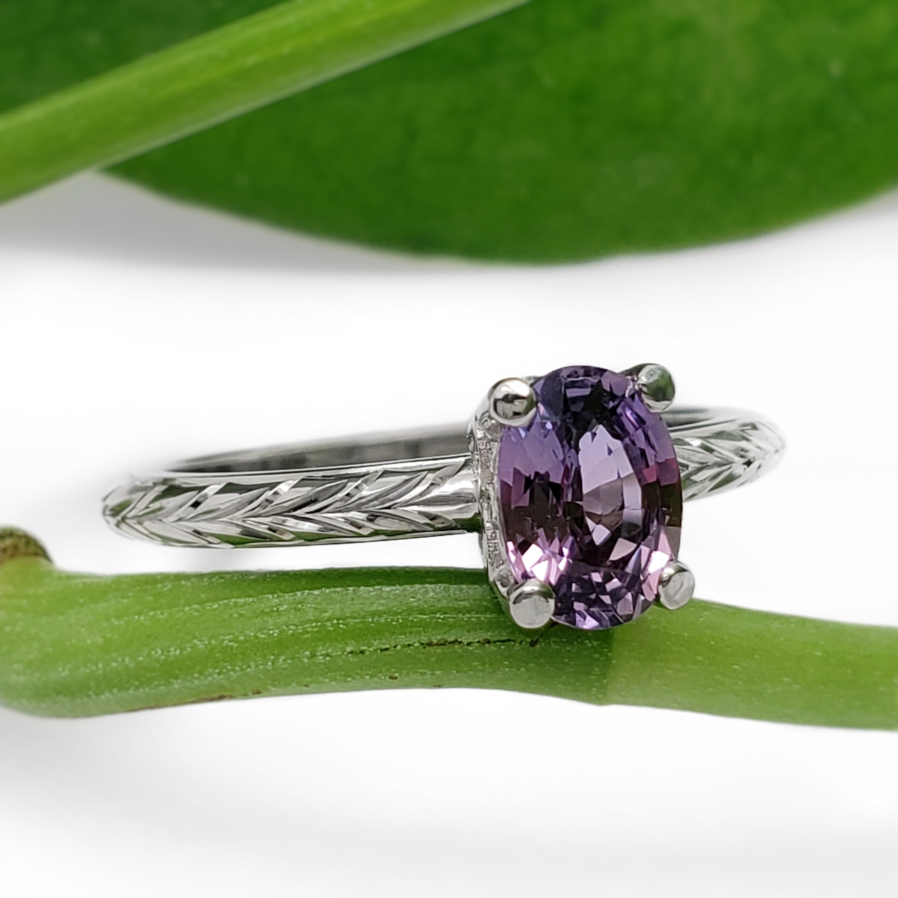 Purple Sapphire Engagement Ring | Era Design Vancouver Canada