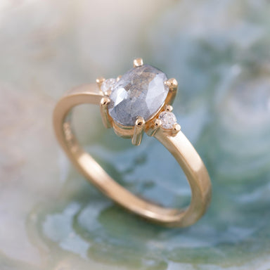Salt and Pepper Diamond Engagement Ring | Era Design Vancouver Canada