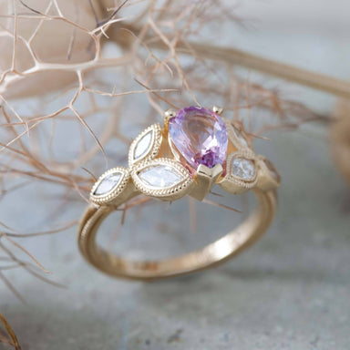 Pink Sapphire Engagement Ring | Era Design Vancouver Canada