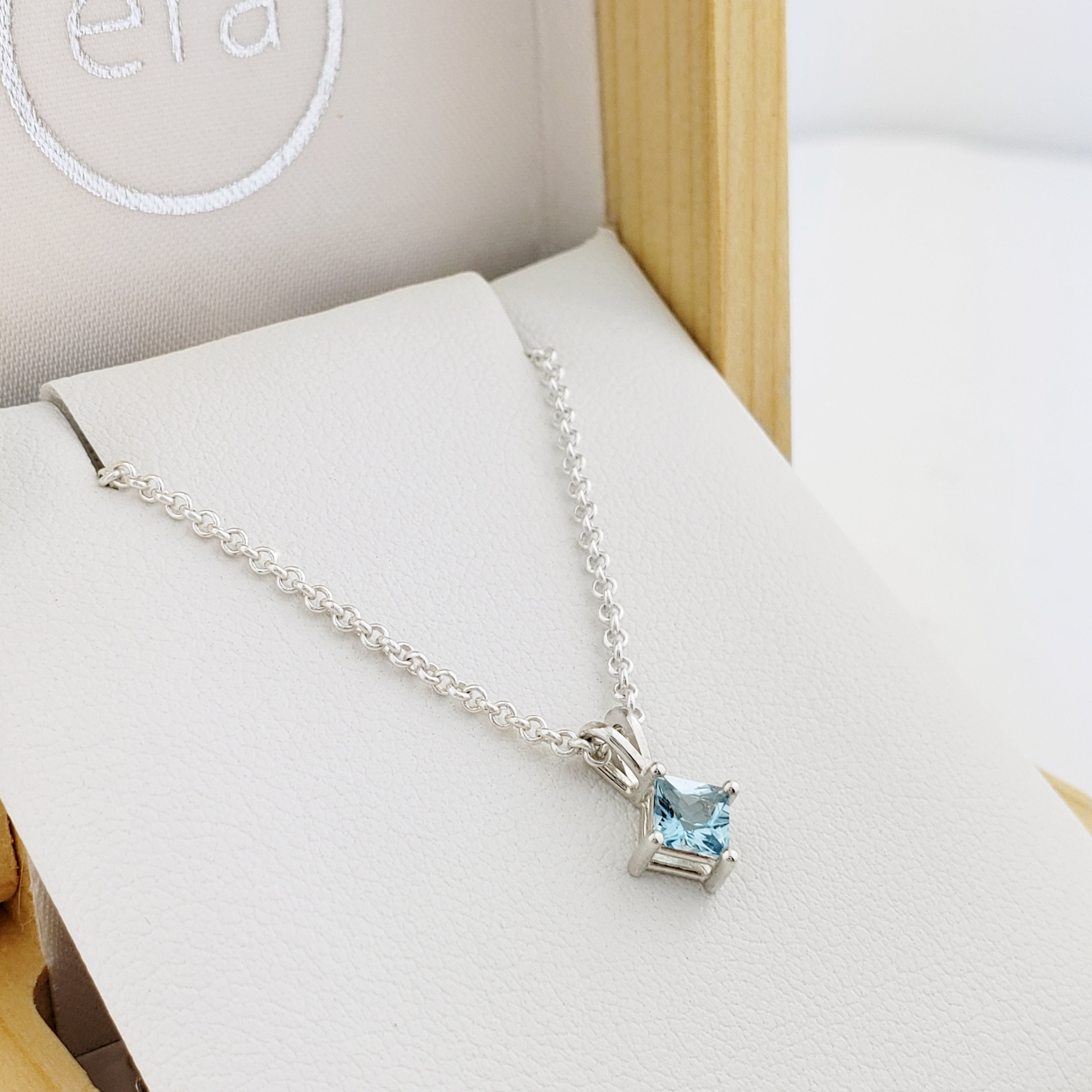 Blue Topaz Sterling Silver Necklace | Era Design Vancouver Canada
