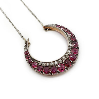 Victorian Ruby Diamond Necklace | Era Design Vancouver Canada