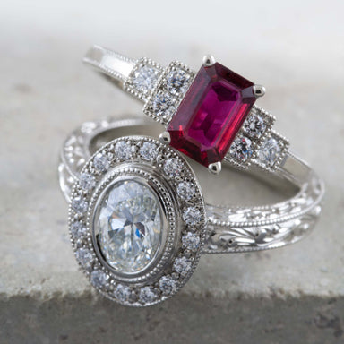 Art Deco Engagement Ring | Era Design Vancouver Canada