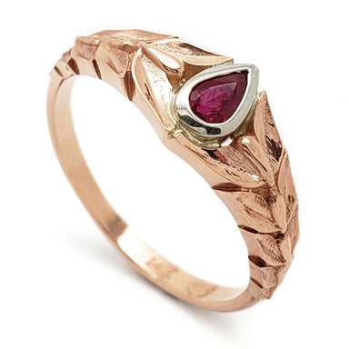 Rose Gold Ruby Engagement Ring | Era Design Vancouver Canada